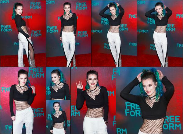 - 19/04/17 : Bella était présente à la soirée de présentation des programmes de la chaîne Freeform à NYC !Notre belle actrice portait donc la même tenue qu'au matin, et mon avis est très partagé sur celle-ci ! Et vous, qu'en pensez vous ? • Top or Flop ? -