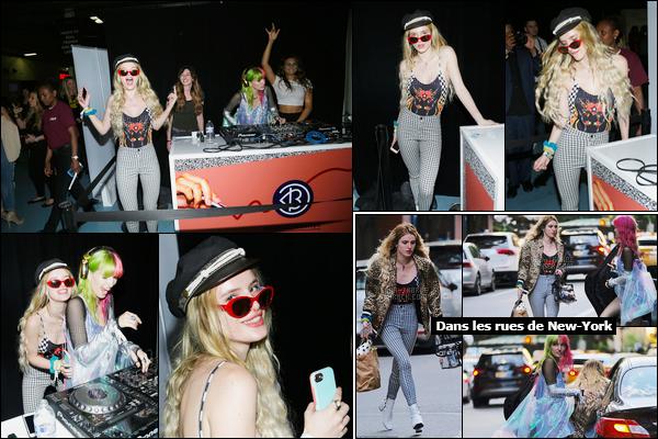 - 20/05/17 : Bella A. Thorne était présente à la convention «Beautycon» qui se déroulait à New-York City.La jolie Bella y était donc avec sa meilleure amie Kyra mais également avec sa s½ur qui était derrière les platines pour l'occasion... • Top or Flop ? -