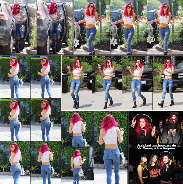- ..13/07/17.. : La sexy B.Thorne a été photographiée arrivant sur le set d'un photoshoot dans la ville de Pasadena.J'adore les photos de ce candid. Bella y est vraiment radieuse et sa tenue, pourtant simple, lui va à ravir. Cela me rappelle la Bella de 2016, pas vous ? -