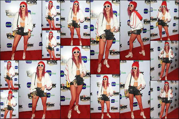 - ..26/07/17.. - Bella était présente à la soirée de lancement de l'application «i.Go Live» située à Hollywood !Plus tôt dans la soirée, B.Thorne a donc évidemment été photographiée quittant son domicile afin de se rendre à la soirée à laquelle elle était conviée. -