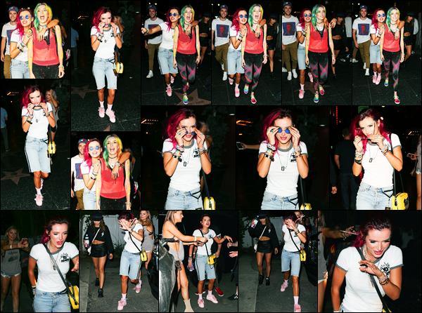 - ..11/08/17.. - Bella Thorne a été photographiée alors qu'elle quittait Avalon Nightclub à West Hollywood !Notre magnifique miss Thorne avec la compagnie de ses amies sont venue soutenir Dani qui mixait. Coté vêtement, c'est un flop pour ma part. Avis ?  -