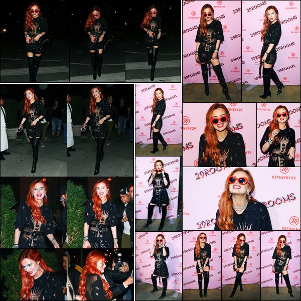 - ..07/09/17.. - Bella Thorne a été photographiée alors qu'elle quittait le « Bowery Hotel » étant à Brooklyn.Notre magnifique miss Bella Thorne a ensuite été photographiée arrivant à un événement dans New-York. Coté tenue, c'est des jolie top de ma part ! -
