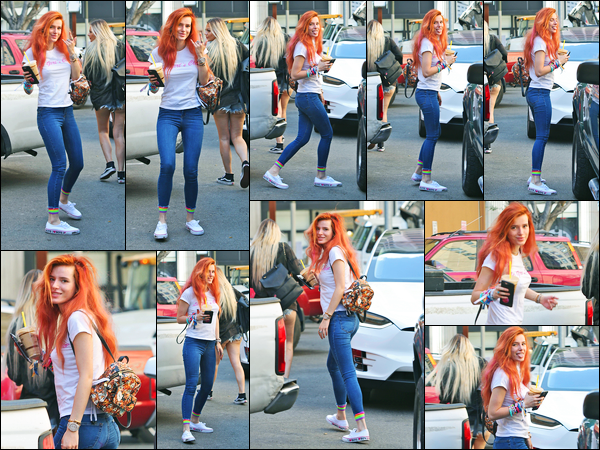 - ..02/10/17.. - Bella Thorne a été photographiée arrivant aux studios Dim Mak Records étant à Los AngelesNotre magnifique miss Thorne bosse encore sur un projet musical... Quant à la tenue de la belle, c'est un beau top de ma part, simple, mais efficace ! -