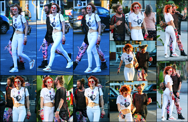 - ..10/10/17.. - Bella Thorne a été photographiée quittant le « Body Electric Tattoo » au West Hollywood !Notre magnifique miss Bella Thorne était en compagnie d'un de ses amis. Coté tenue, le blanc lui a tellement bien, c'est un top pour ma part. Avis ? -