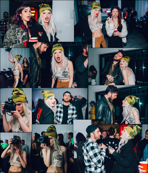 """""""  27/01/18 ▬ La sublime Bella Thorne donnait une fête dans sa maison de Sherman Oaks, (LA) !Toutes ces belles photos ont été prises par le talentueux Eden Shohat... J'adore la perruque que porte Bella, une idée de prochaine teinture peut-être ? -"""