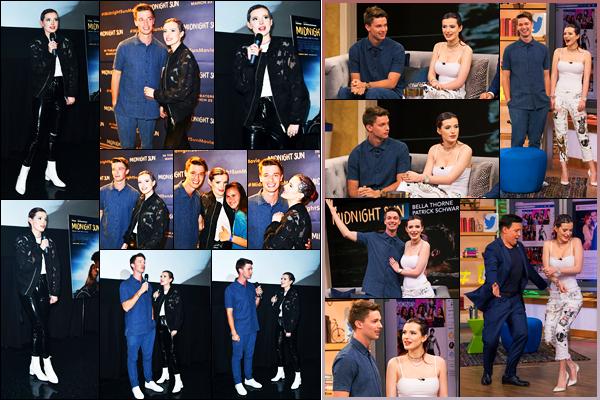 - - 19.03.2018 -''▬ Bella Thorne faisait la promotion de son film « Midnight Sun » avec Patrick S. étant dans Miami !La belle continue la promo de son film avec son co-star, elle s'est rendue aussi à l'émission « Despierta America » ! Ses tenues sont des top pour moi -