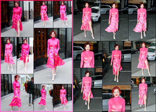 - - 20.03.2018 -''▬ Bella Thorne a été photographiée alors qu'elle arrivait aux studios «Tonight Show» à New-York.La belle continue la promotion de son film ! Plus tard, la belle a été photographiée quittant les studios de l'émission. Concernant sa tenue, c'est petit top. -