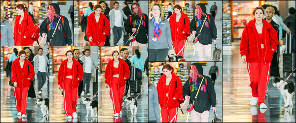 - - 20.03.2018 -''▬ Bella Thorne a été photographiée alors qu'elle arrivait à l'aéroport de « JFK », étant, à New-York.La belle continue la promotion de son film et cette fois-ci, à New-York... C'est accompagnée de son petit-ami que Bella est arrivée. Sa tenue est un top ! -