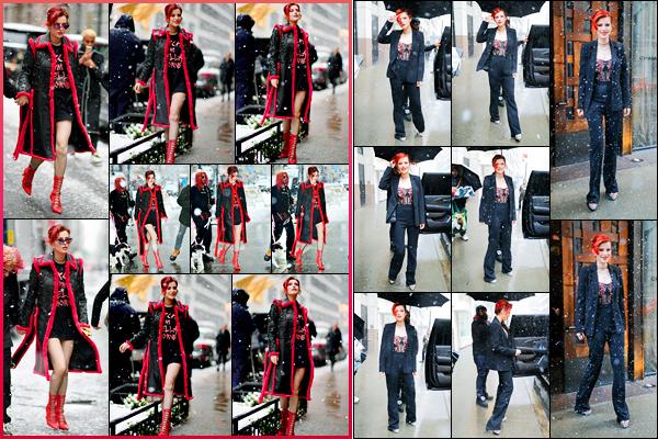 - - 21.03.2018 -''▬ Bella Thorne a été photographiée, alors, qu'elle déambulait dans les rues, étant dans New-York !C'est sous la neige que la jolie actrice a été photographiée deux fois de suite dans les rues à New-York. Ses deux tenues sont des tops pour ma part ! -