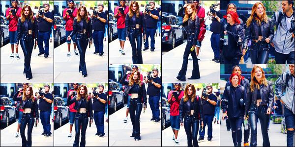 -23/05/2018- ─ Bella Thorne a été photographiée, alors, qu'elle déambulait dans les rues, de la ville dans New York City !C'est en compagnie de quelques amis que la belle a été photographiée dans la ville de la grosse pomme... Concernant sa tenue, c'est un top pour moi !