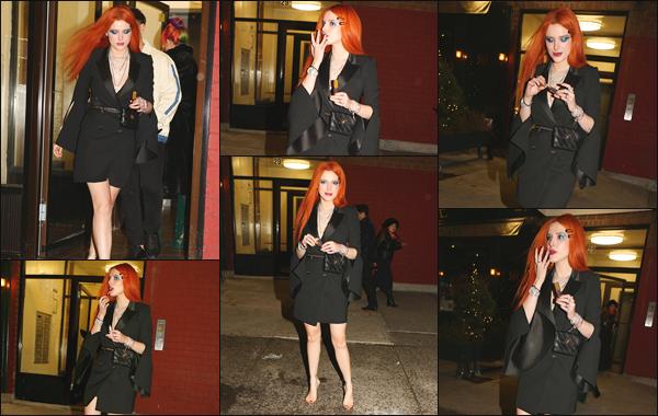 -07/02/2019- ─ Bella Thorne était présente lors de la soirée de lancement du « Daily Row  », se déroulant dans New York !C'est donc à l'entrée du lieu de l'événement que la belle Bella Thorne a été photographiée par les paparazzis présents. C'est un top pour cette robe noire.