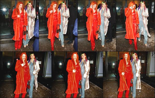 -12/02/2019- ─ Bella Thorne était présente lors du défilé « Sally LaPointe runway show » à la Fashion Week de New York.C'est encore une fois en compagnie de sa soeur : Dani Thorne qu'elle a été photographiée devant les photographes présents ! Je lui accorde un petit top.