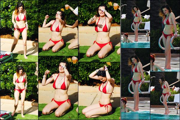 -13/03/2019- ─ Bella Thorne a été photographiée alors qu'elle était au bord d'une piscine avec sa s½ur étant dans Miami.C'est désormais en Floride que nous retrouvons notre jolie actrice B. en compagnie de sa s½ur, Dani Thorne. Concernant son maillot, c'est un beau top !
