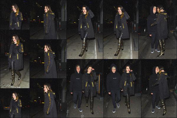 . ''•''02.12.19 :''_Bella Thorne a été aperçue quittant la cérémonie des « British Fashion Awards » dans'''▬'''Londres, UK ! La belle a donc esquivée les after-party afin de profiter de sa soirée en tête-à-tête avec son chéri Benjamin. J'adore sa tenue Chanel, c'est un beau top. .