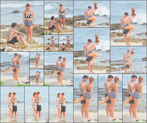 . ''•''04.01.21 :''_Bella Thorne a été photographiée alors qu'elle faisait du sport sur une plage de'''▬'''Tulum, au Mexique ! C'est durant son cours de sport que miss Bella a été repérée sur une plage de Tulum. Elle était en compagnie de Benjamin, ils sont mignons, c'est un top. .