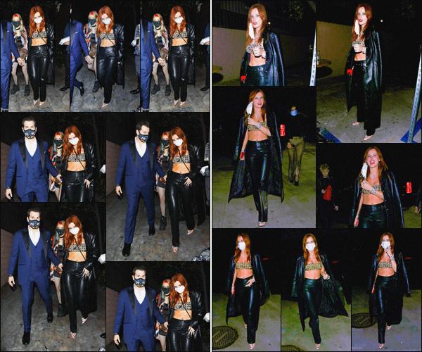 . ''•''14.03.21 :''_Bella Thorne a été photographiée avec sa s½ur quittant le club « No Vacancy » à'''▬'''Hollywood, en CA ! En fin de soirée, notre belle actrice a été vue avec sa s½ur quittant le club « No Vacancy » après y avoir passer la soirée ! J'adore la tenue de Bella, top. .