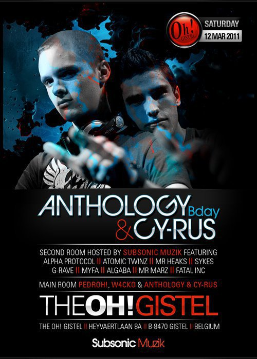 12 Mars 2011 Play @t The Oh! gistel ! Anthology & Cyrus B-day !