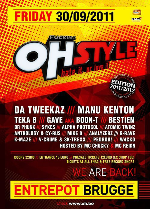 30 septembre Play @t Fucking Ohstyle Brugge entrepot ! :d !