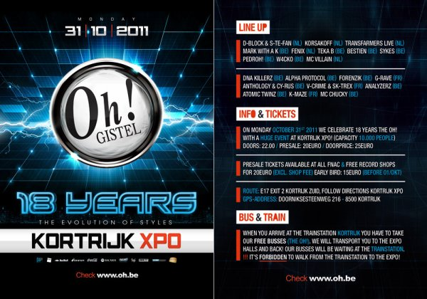 31 Octobre Play @t 18 Years Of The Oh!