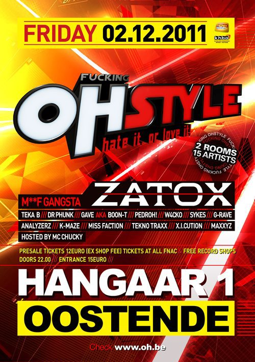 02 decembre Play @t Fucking Ohstyle Oostende hangaar !