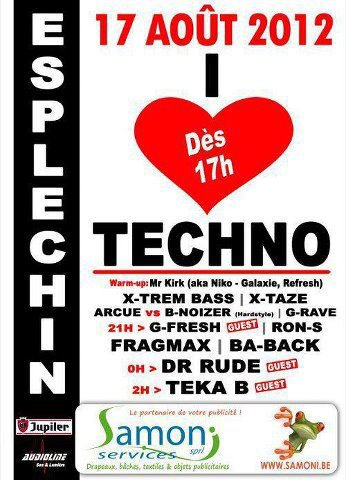 17 aout 2012 Play @t I Love Techno Esplechin (Be)