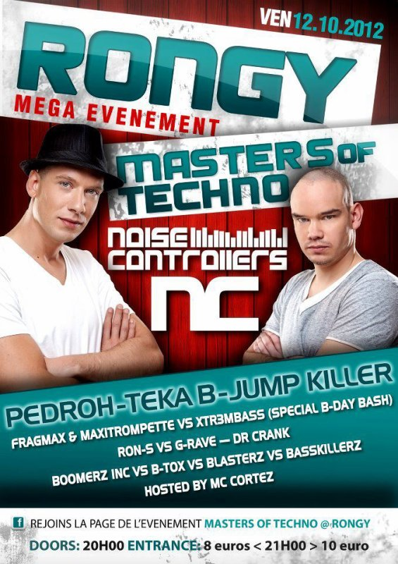 12 octobre 2012 Play @t Masters of Techno Rongy  with Ron's !!!