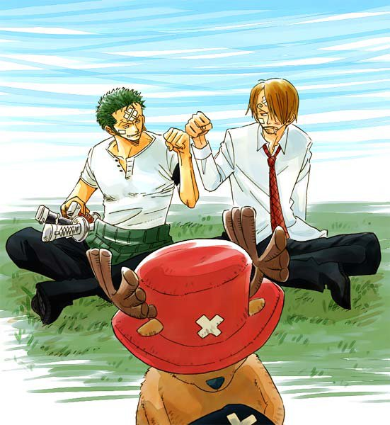 Image Zoro x Sanji (and Chopper) 189