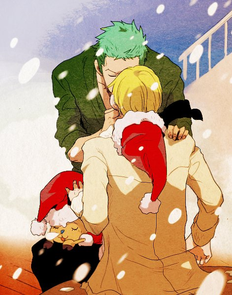 Image Zoro x Sanji (and Chopper) 190