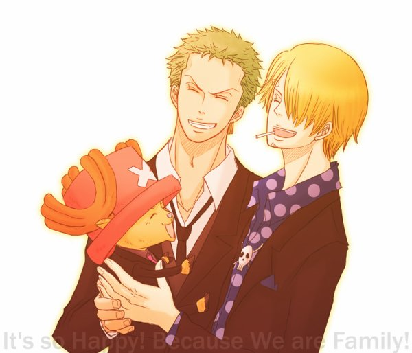 Image Zoro x Sanji (and Chopper) 191