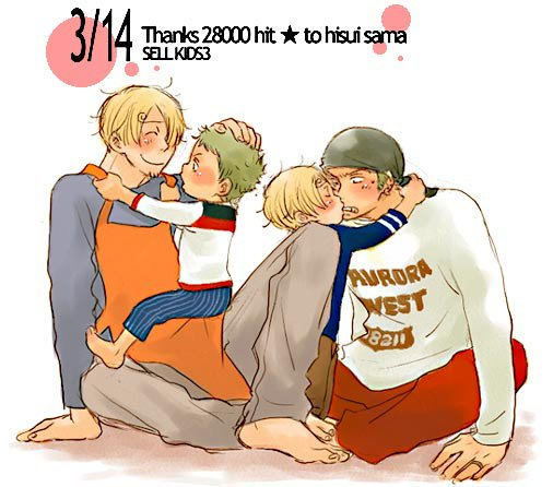 Image Zoro x Sanji (famille) 257