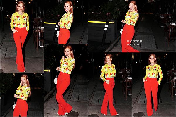 * '•-09/09/21 ─-' Madelaine P. était présente au dîner organisé par la marque « Moschino » qui se déroulait dans New York. Madelaine s'est de nouveau rendue à un événement en soirée. Elle était vraiment ravissante. J'aime bien sa tenue. C'est un Top pour moi. *