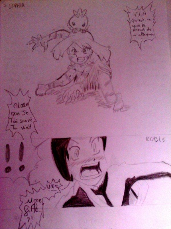La rencontre entre Rubis et Saphir (mon dessin)
