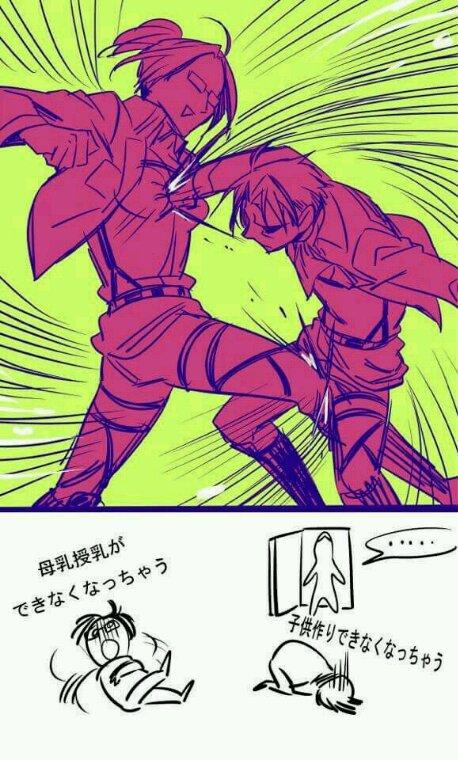 L'attaque des titans livai et hanji
