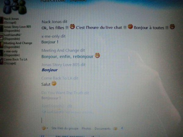 Live-Chat numéro 2...