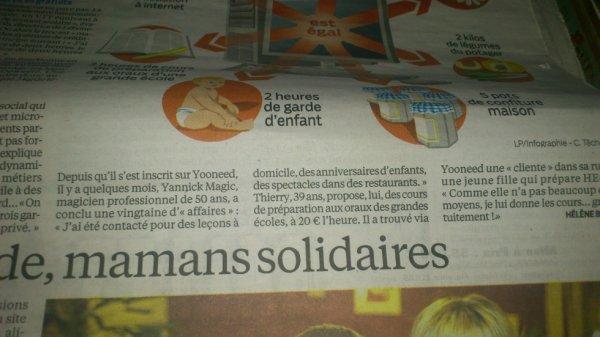 Article dans le Parisien...