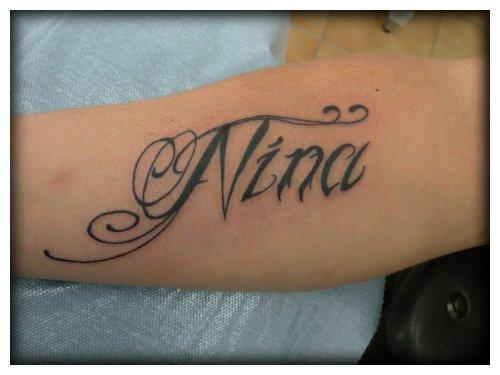 lettrage Nina