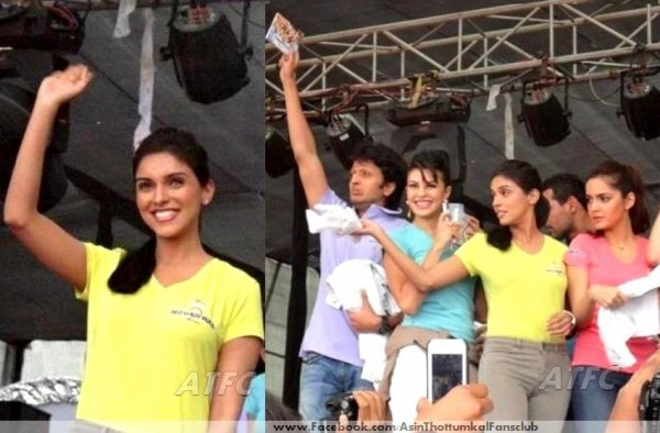 Asin spotted with Housefull 2 team at DITM college in Delhi promoting Housefull 2 (**,)