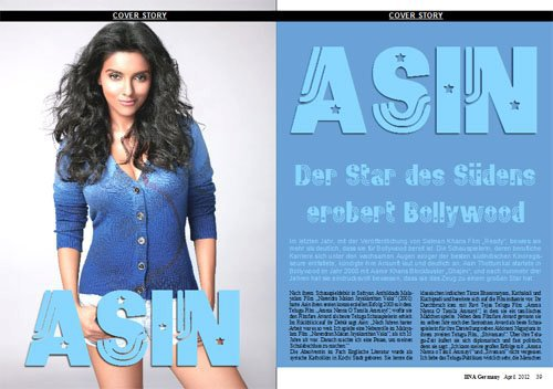 Asin on BNA Magazine cover page!