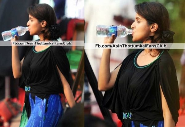 Images: Asin takes a break while shooting for Khiladi 786