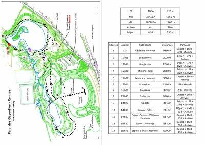 Cross départemental : le parcours et les horaires