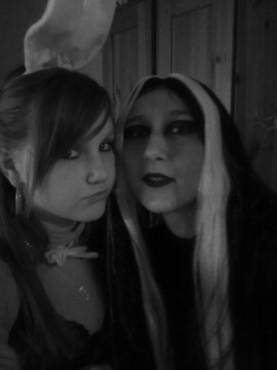 Moi et ma fille Kima Halloween !