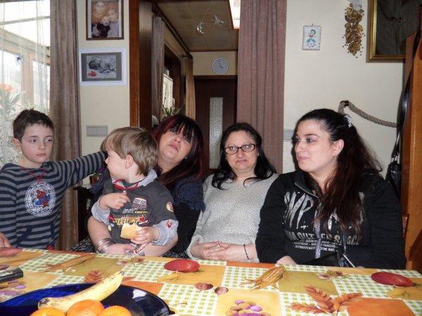 cousin harley et cousin raphael, cousine jessica, zia tonina et moi