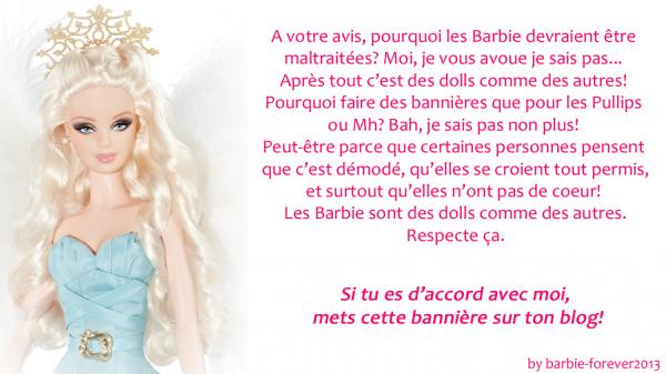 Contre la maltraitance des Barbie!