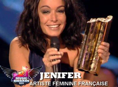 jen meilleure artiste féminine 2011