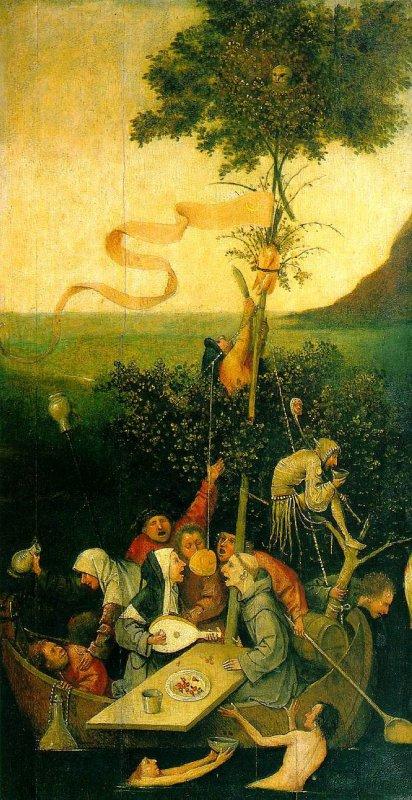 La Nef des fous de Jérome Bosch (1450 - 1516) ..... allégorie d'un monde qui se perd...