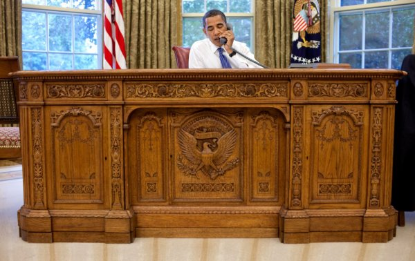 "The ""Resolute desk"" : Des glaces de l'Artique au Bureau Ovale de la Maison Blanche !"