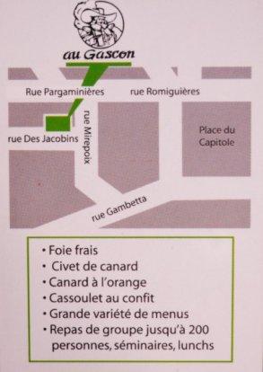 Le Gascon ! 'Tit resto sympa au coeur de Toulouse :-)