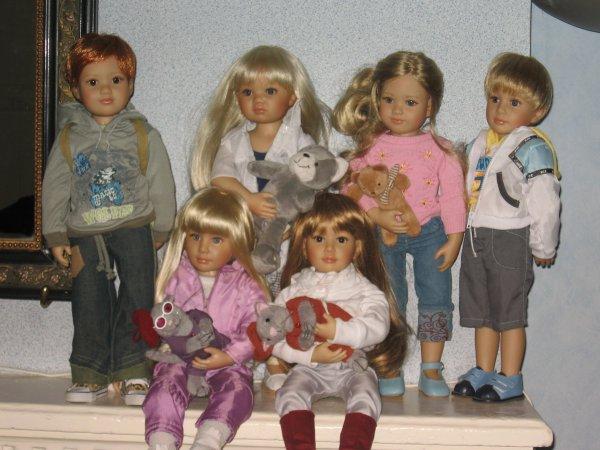 La famille Kidz 'n' Cats de Heart & Soul : 4 filles et 2 p'tits gars !