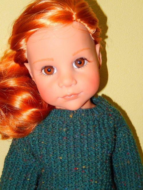 """Une jolie rousse de """"Götz"""" qui n'a pas de prénom ...  Zabelle m'a suggéré CAROLINE, c'est bon, ça lui va bien !"""