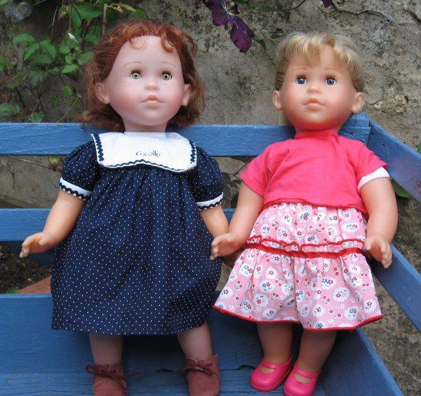 2 Corolle, la rousse est un peu plus âgée que la blonde !